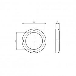 G - Tuerca delantera cilindro redondo RNDC Ø40