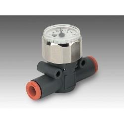MAN L Ø8 - Ø8 - Manómetro en línea tubo-tubo