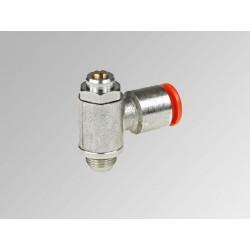 """MRF O Ø6 - 1/4"""" - Microregulador de caudal para cilindro con regulación de tornillo en latón"""