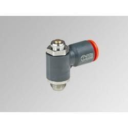 """MRF O Ø8 - 1/4"""" - Microregulador de caudal para cilindro con regulación de tornillo en tecnopolímero"""