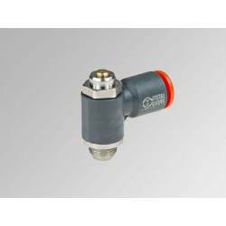 """MRF O Ø10 - 1/4"""" - Microregulador de caudal para cilindro con regulación de tornillo en tecnopolímero"""