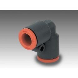 R21 Ø12 - Racor automático codo tubo-tubo en tecnopolímero