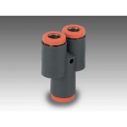 """RL23/M Ø6 1/8"""" - Racor automático Y con entrada a rosca en tecnopolímero"""