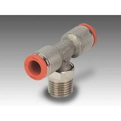 """RL32/C Ø10 - 3/8"""" - Racor automático codo giratorio con rosca cónica en latón"""