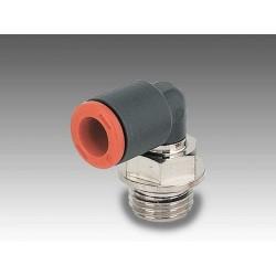 """RL34 Ø6 - 1/4"""" - Racor automático codo giratorio en tecnopolímero"""