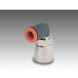 """RL34/F Ø6 - 1/4"""" - Racor automático codo giratorio con rosca hembra en tecnopolímero"""