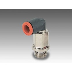 """RL36 Ø4 - 1/8"""" - Racor automático codo giratorio prolongación en tecnopolímero"""