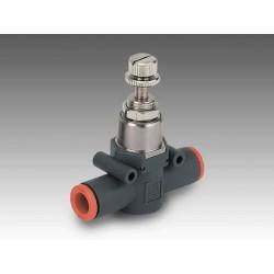 RML Ø6 - Ø6 - Regulador miniaturizado tubo-tubo en línea