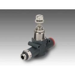 "RML 1/4"" - Ø6 - Regulador miniaturizado rosca-tubo en línea"
