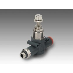 "RML 1/8"" - Ø8 - Regulador miniaturizado rosca-tubo en línea"