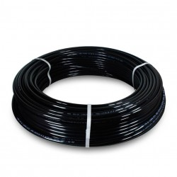 Tubo PU98 Ø2,5x4 rollo 100 metros negro