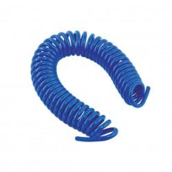 Espiral de poliuretano Ø5,5 x 8 en 10 metros azul